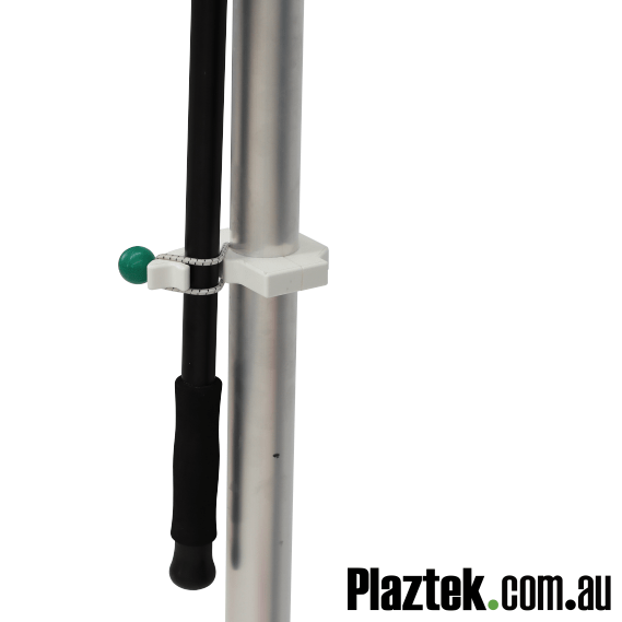Plaztek Gaff Holders for Fishing and Boat Tool Holders Post Mounted lower clasp Close up
