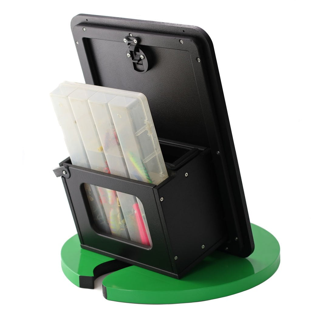 Plaztek Custom Tilt-Out Tackle Storage Large in Recycled Black Plastic for Boat Outfitting