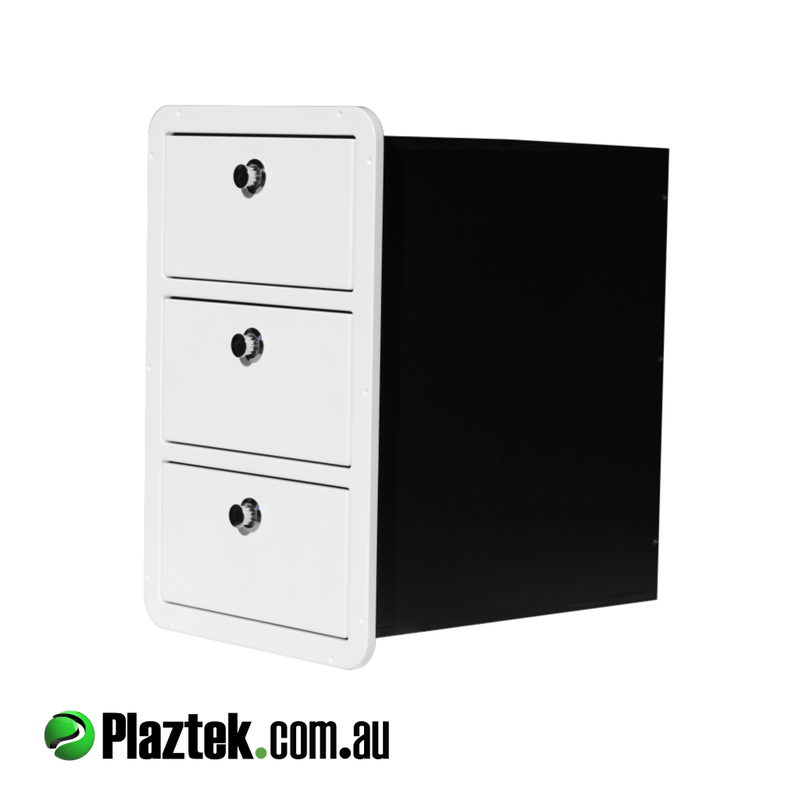 Plaztek custom drawers for storage on boats, great boat outfitting product