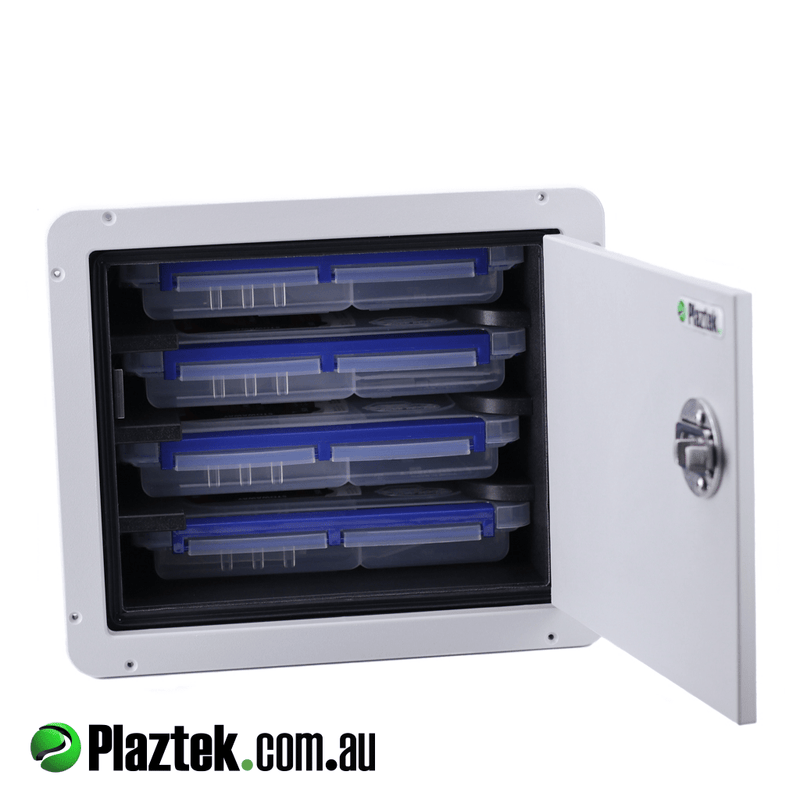 Plaztek Custom Boat Tackle Tray Cabinet holds 4 Plano 3600 Series