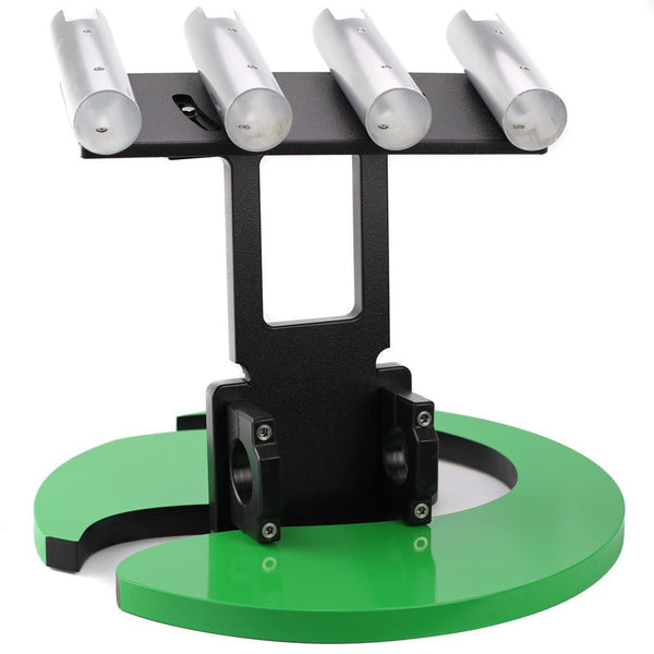 Plaztek Raised Bull Bar rod Holders, Adjustable angle for keep you fishing rods straight while munted on your Bullbar, front view