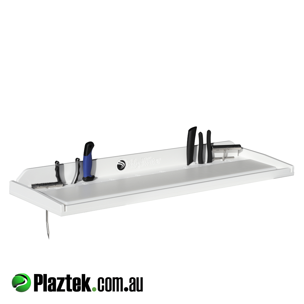 Plaztek simple Bait Boards, holds your fishing tools and has built in fish ruler for your convenience, made from King StarBoard®️