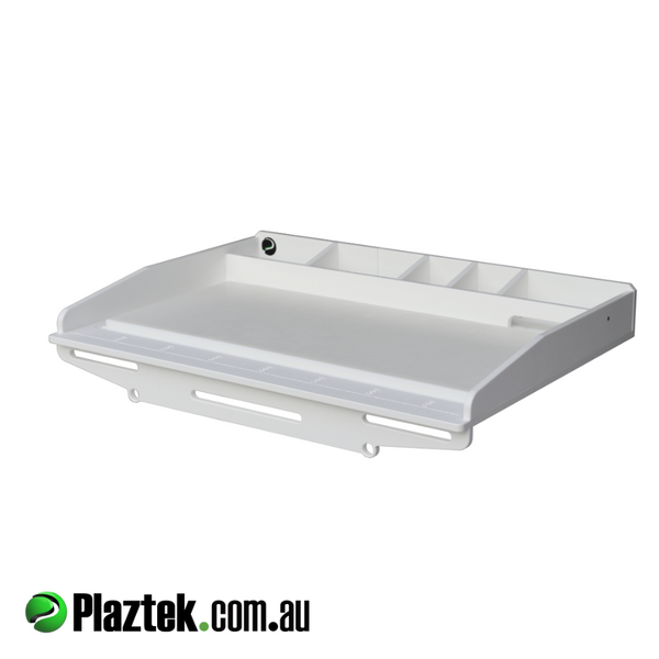 Plaztek Custom Bait Boards wit built in fish ruler and storage for sinkers and more, a Australia made Product