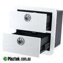 Plaztek Custom Boat Drawers made from King Starboard & Black Eco Board