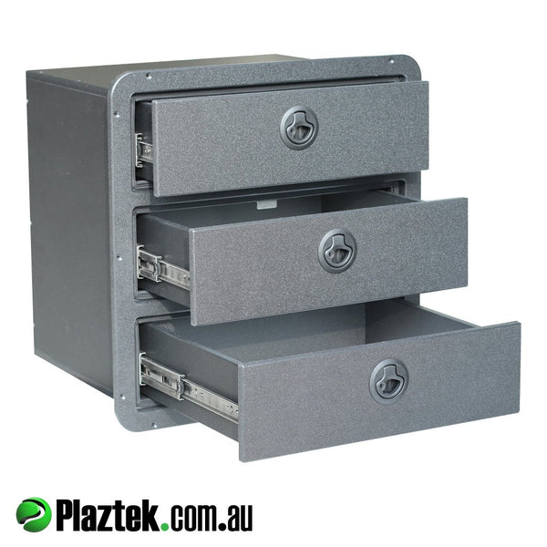Plaztek Australian Made Boat Drawers for Boat Outfitting made in Eco  Black Board