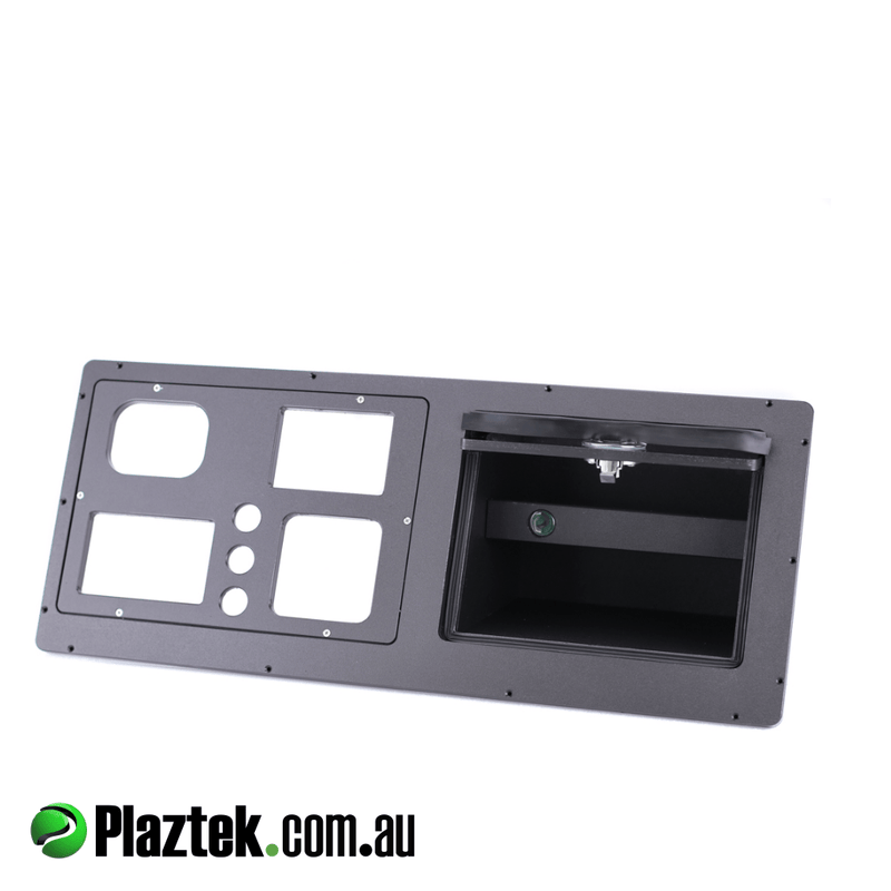 Boat Dash and Glove Box in one made from black king StarBoard