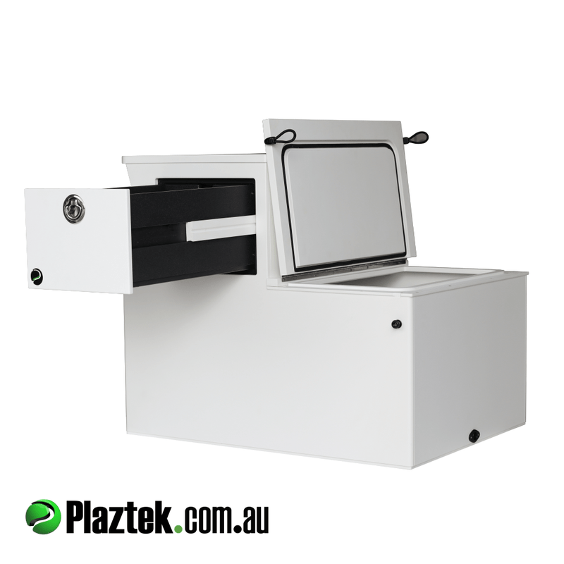 Plaztek Australian Made Boat Seat Boxes, with Boat Drawers to store your Fishing Tools and Tackle