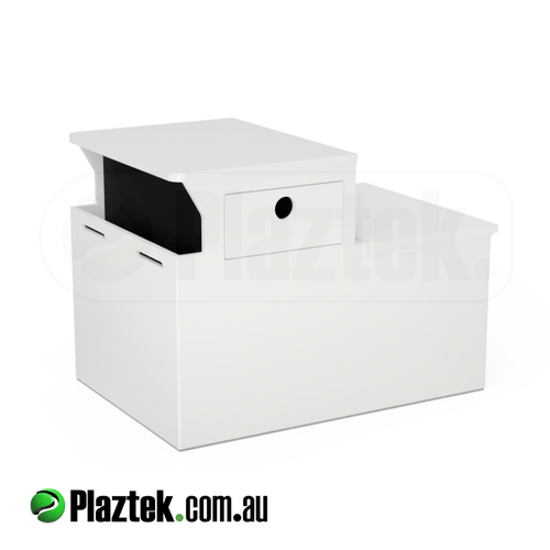 Plaztek Boat Seat Box Esky, makes a great Fish Box with clear storage under tackle drawer, drains via rear bung