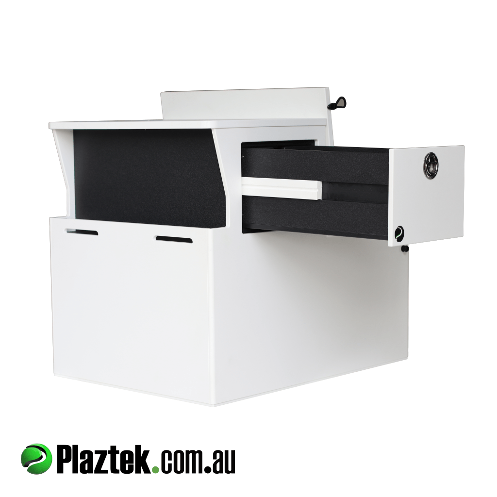 Plaztek Seat Boxes are made from Marine polymer Board, with Storage Drawers built in, product is made in Australia