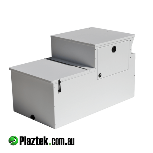Plaztek Boat seat Box with Tackle Tray Storage built in, Great boat storage and use as esky.