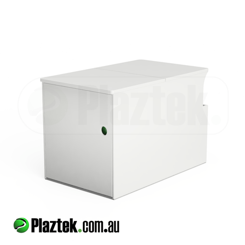 Plaztek Boat Seat Box with Fridge Slide Out for all your Boat Storage
