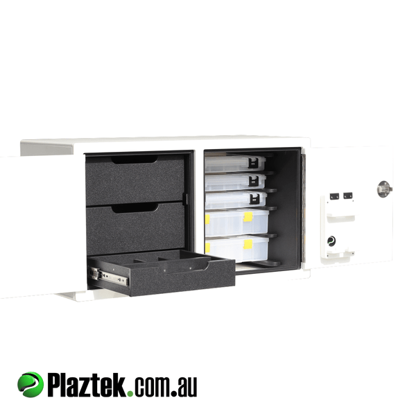 Plaztek Australian Made Tackle Cabinets and rigging consoles for your Boat fit Outs