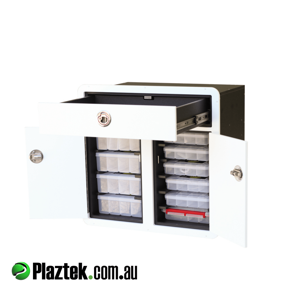 Plaztek Boat Tackle Storage and Boat Drawer combo made from King StarBoard in Australia