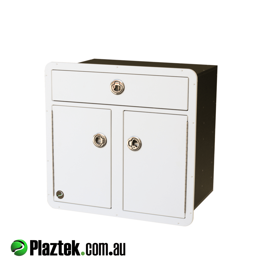 Plaztek Boat Tackle Storage For Tackle Trays and Full depth Boat Drawer made from King StarBoard, Australian Made Products
