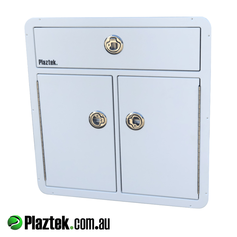 Plaztek Australian Made Tackle Cabinets and rigging consoles for your boat, Made from the original Marine polymer board King Starboard®