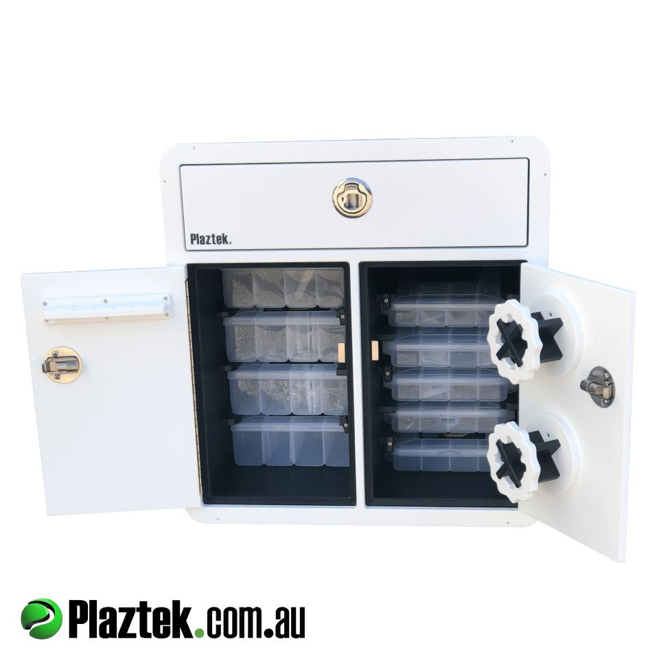 Plaztek_Boat Tackle_Storage Cabinets, Made from King StarBoard® Australian Made Boat accessory