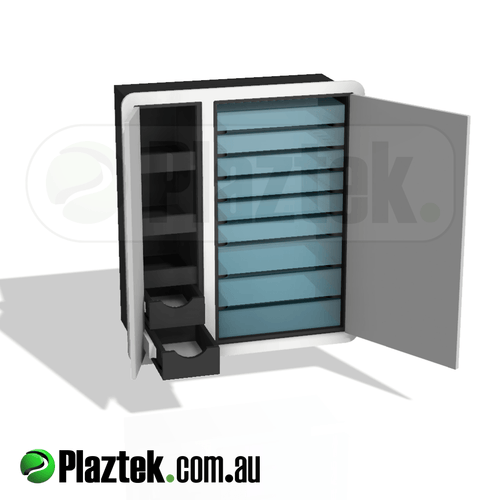 Plaztek Boat Tackle Cabinet is ideal for Boat Console Storage