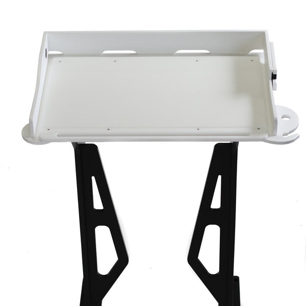 Plaztek Bait Board and Filleting Table with knife block, top view, a Australian made product