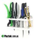 Plaztek Boat fishing Tool Holders in King StarBoard White White colour, holds de hookers Fishing pliers Knifes and fish lip grips etc.