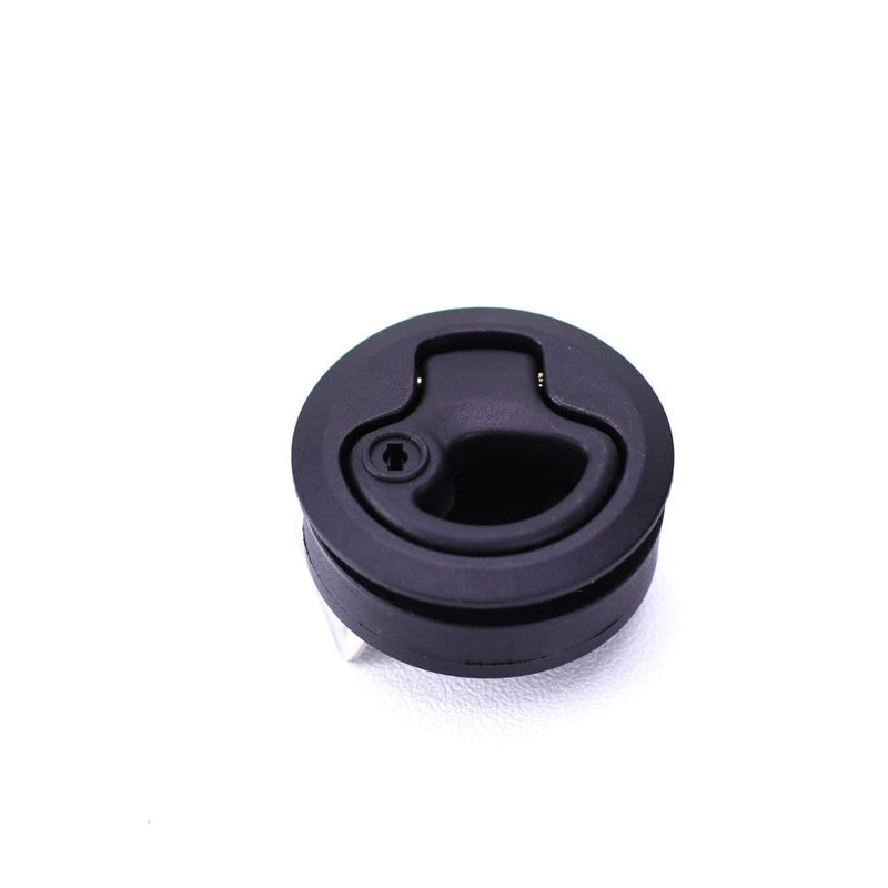Slam Lockable Latch in Black Plastic SS keeper