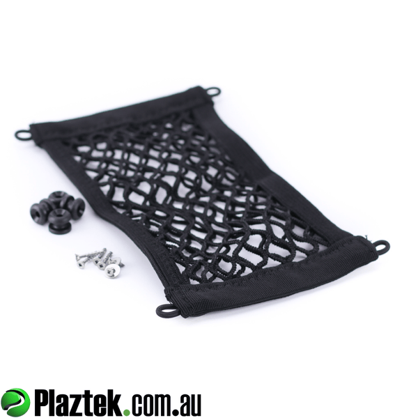 Plaztek Storage Nets attach to Boat Tackle Cabinets