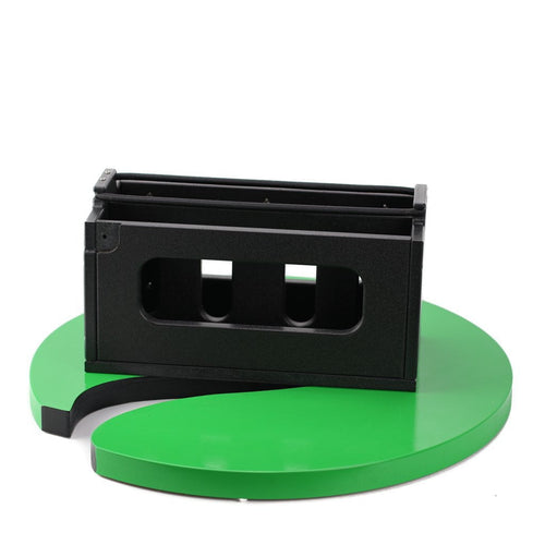Plaztek Medium Tackle Tray Holder front view, holds 2 medium sized tackle trays horizontally, a Australian made product.