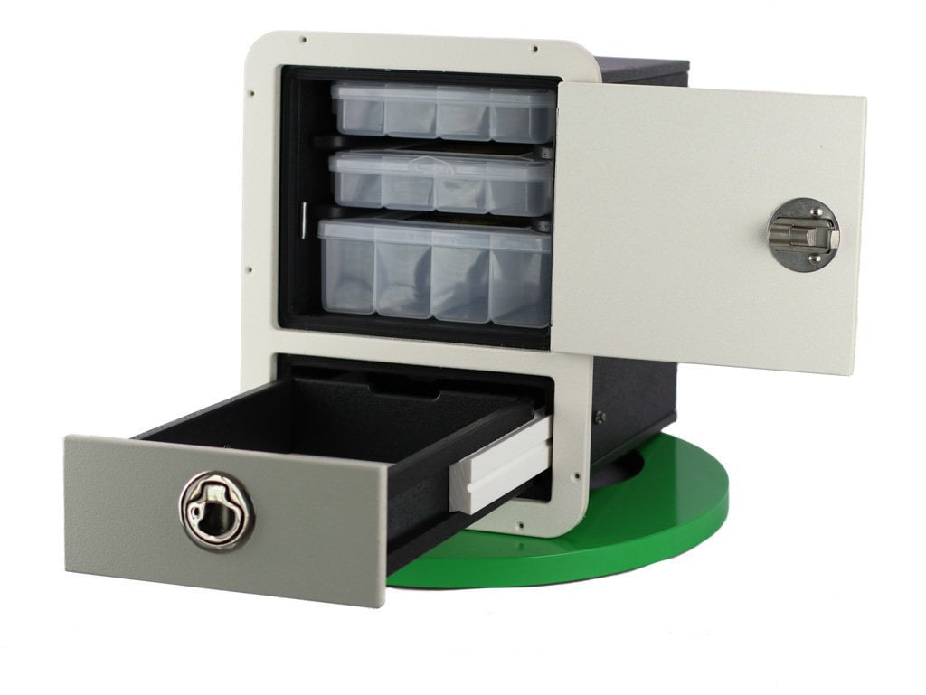 Plaztek Boat Tackle Storage Combo, holds 2 Fishing Tackle Trays 50mm and 1 Deep 80mm and Tackle Drawer for sinker storage