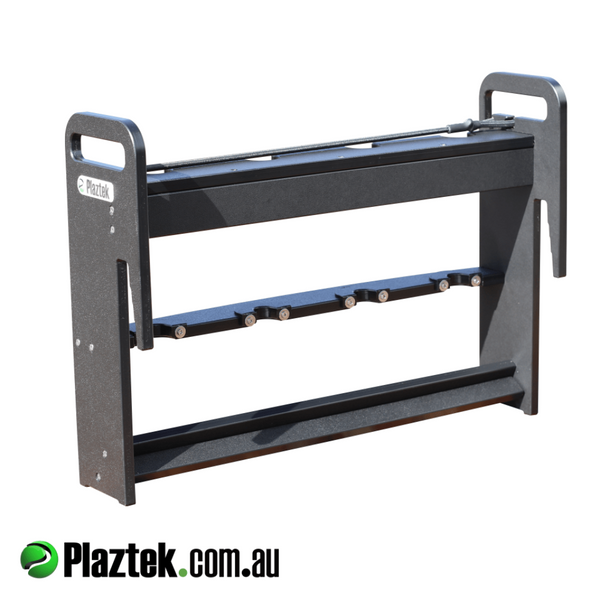 Vertical boat rod holder can be removed with ease using the two handles on the side. 100% made in Australia.