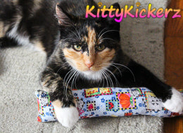 Kicker Stick Organic Catnip Cat Toy Handmade in USA by Kitty Kickerz Best Cat Toy Popular Catnip Toy Top Rated Adorable Calico Cat