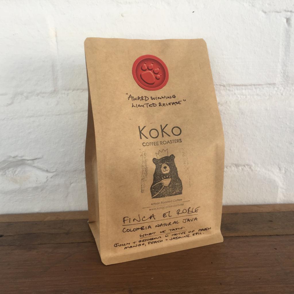 Finca El Roble Natural Java Limited Release - KoKo Coffee Roasters