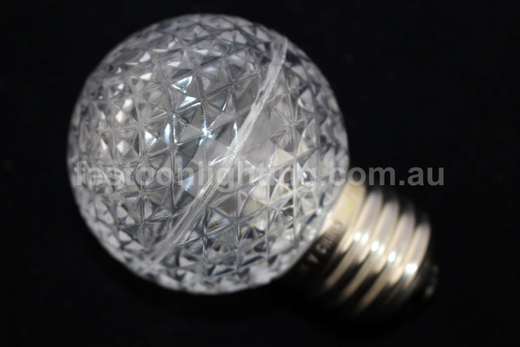G50 Faceted E27 Decorative Festoon Bulb - White