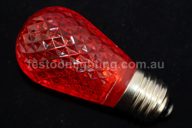T50 Faceted E27 Decorative Festoon Bulb - Red