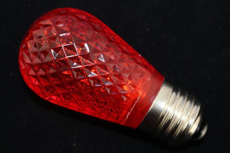 Minleon T50 Faceted E27 Festoon Light Bulb red image