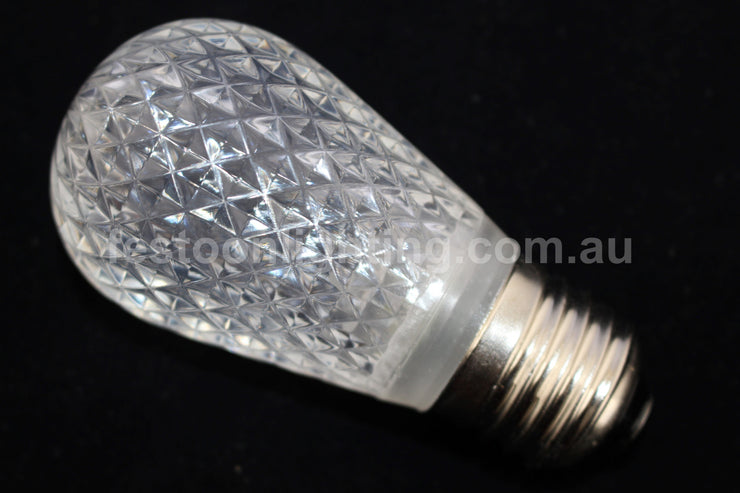 T50 Faceted E27 Decorative Festoon Bulb - White