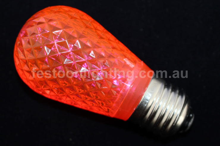 T50 Faceted E27 Decorative Festoon Bulb - Pink