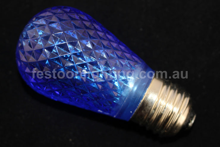 T50 Faceted E27 Decorative Festoon Bulb - Blue