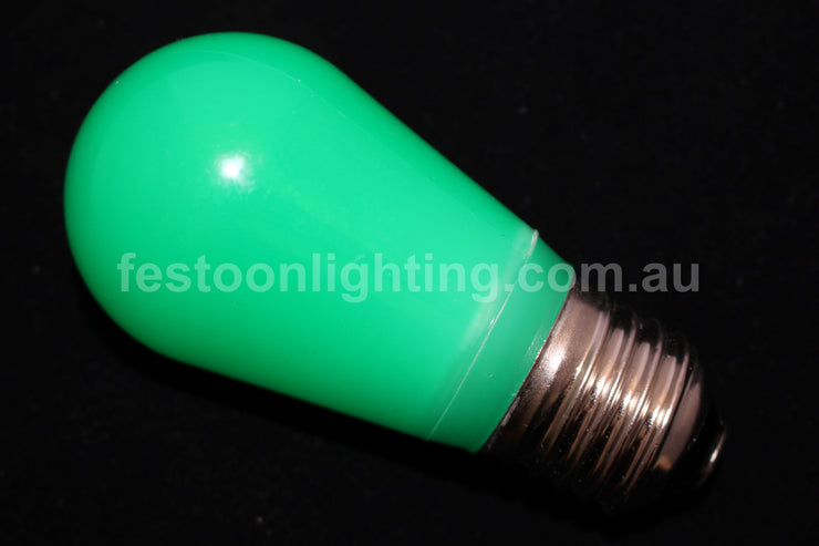 T50 Frosted E27 Decorative Festoon Bulb - Green