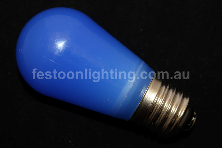 T50 Frosted E27 Decorative Festoon Bulb - Blue