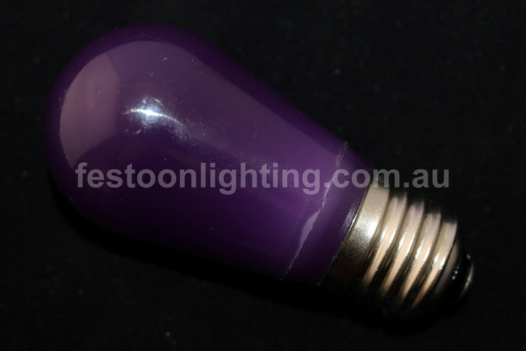 T50 Frosted E27 Decorative Festoon Bulb - Purple