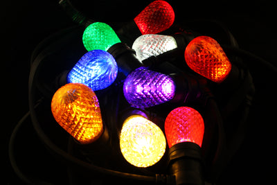Minleon T50 Faceted E27 Festoon Light Bulb multicolour image