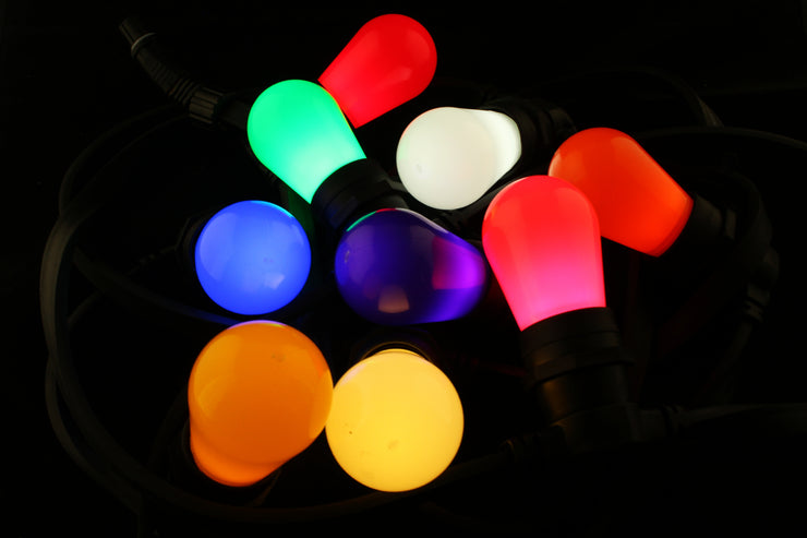 T50 Frosted E27 Decorative Festoon Bulb - All Colours