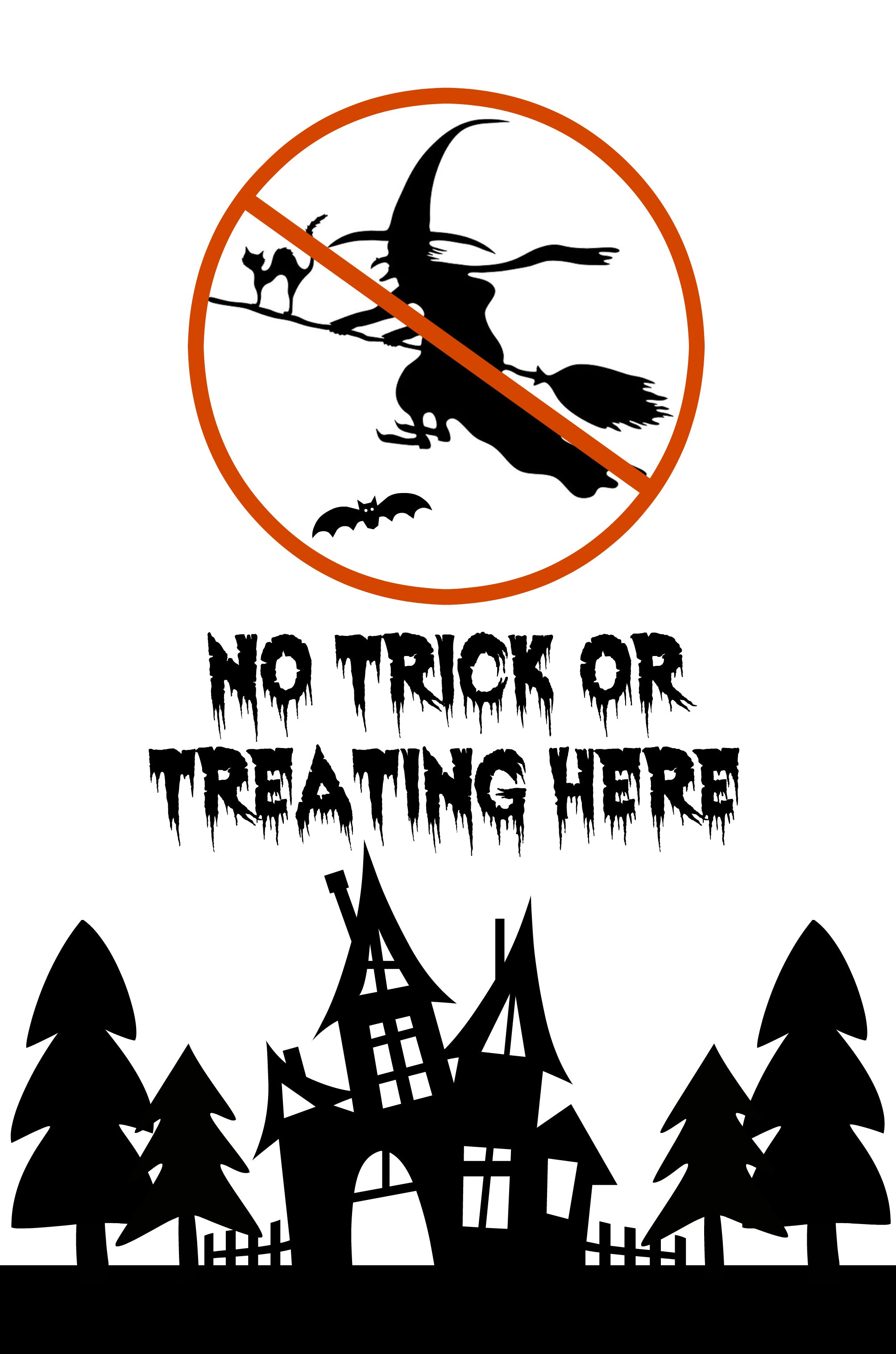 halloween and to wish to avoid those little trick or treaters knocking on your door at dinner time little wings have designed a free printable no