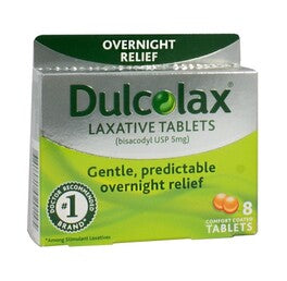 Dulcolax Laxative Tablets, 8 ct.