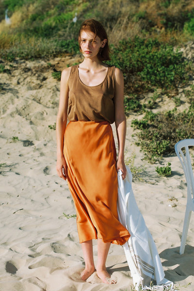 seaside silk skirt