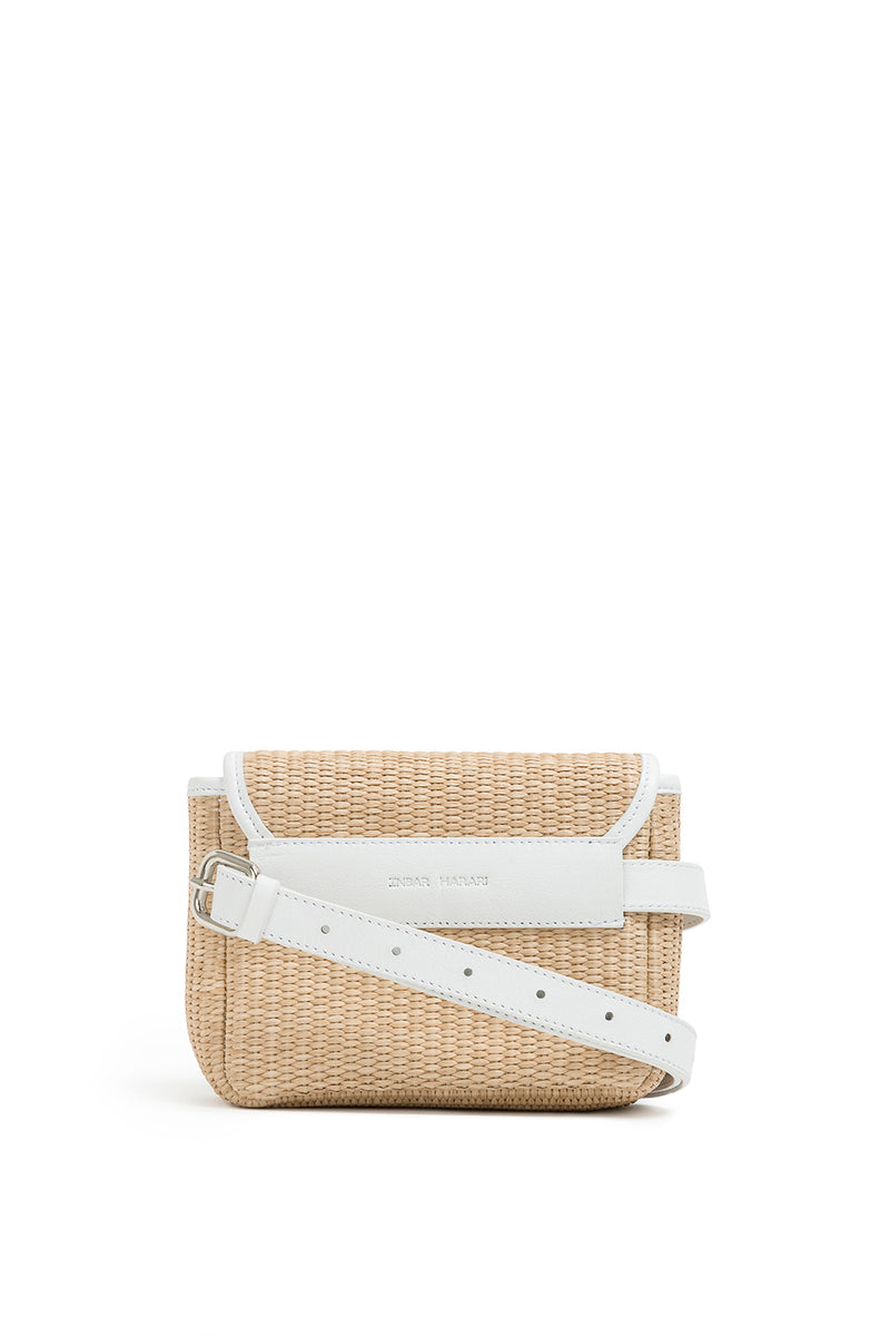 rafia belt bag