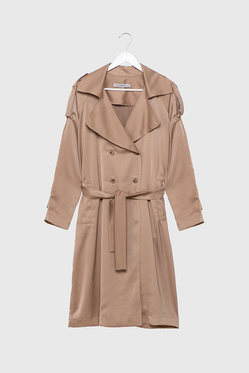 oxbow satin trench