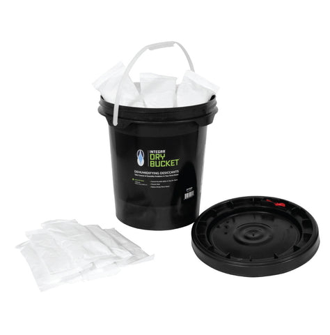 INTEGRA DRY BUCKET. 200g  Each Desiccant Packs (Drying Rooms). 200 grams of moisture absorbing desiccants.