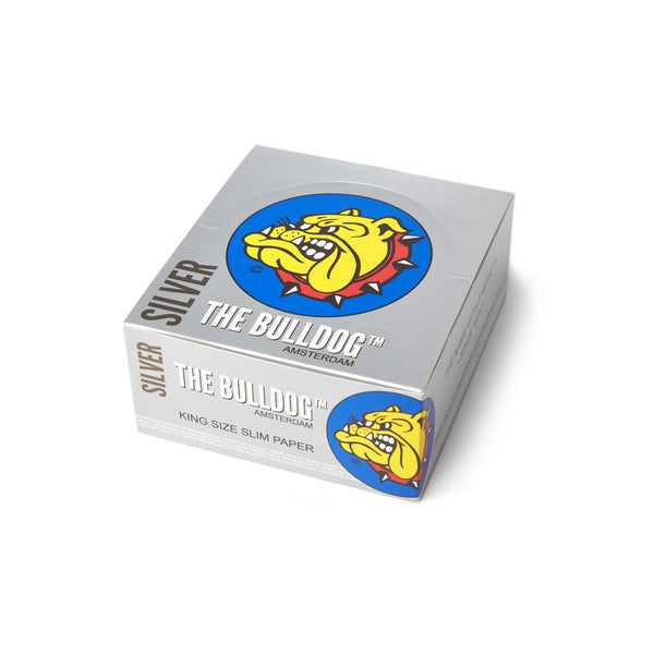THE BULLDOG KING SIZE SILVER PAPERS, smoke accessories, smoke