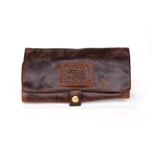 THE BULLDOG KAVATZA LEATHER POUCH, smoke, smoke accessories, storage