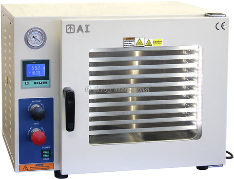 220V 53L Vacuum Oven 5 Sided Heat, SST Tubing/Valves, across international